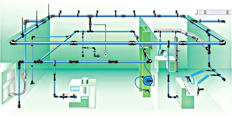 Compressed Air Pipework And Fitting