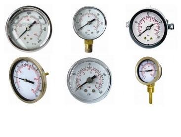 Gauges, Pressure, Vacuum & Temperature