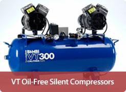 Oil-Free Ultra Quiet Air Compressors - Professional VT (Optional Dryers)