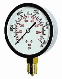 Cewal® 100mm Glycerine Filled Gauge - Bottom & Back Mounting   100mm Diameter  S/Steel Case