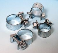 Jubilee® Juniors (Nut & Bolt Clips)   Features: Used on petrol pipes - heaters and small bore hoses  Material: Steel strip to BS 1449 CS