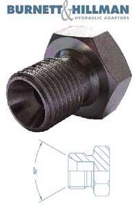 Plug BSPP 60 Coned    Burnett & Hillman  Hydraulic Adaptor