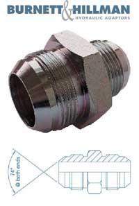 Male x Male JIC x JIC   Burnett & Hillman  Hydraulic Adaptor