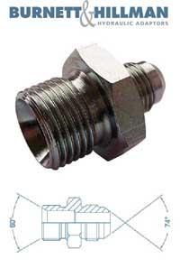 Male x Male BSPP x JIC   Burnett & Hillman  Hydraulic Adaptor