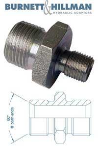 Male x Male BSPP x BSPP   Burnett & Hillman  Hydraulic Adaptor