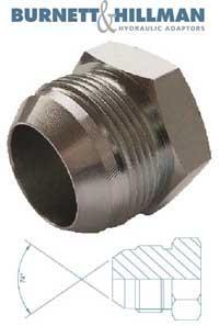 Plug JIC Solid   Burnett & Hillman  Hydraulic Adaptor
