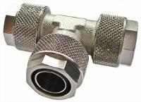 Equal Tee   Brass Nickel Plated Finish  The Working pressure and temperatures