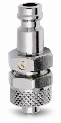 BE-21 Mini Adaptors   PNEUMATIC QUICK RELEASE COUPLINGS -  Quick Fit Tube Connection