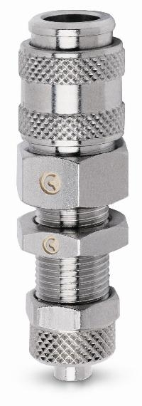 Quick Fit BE-21 Panel Mount   PNEUMATIC QUICK RELEASE COUPLINGS -  Tube Connection Mini Couplers
