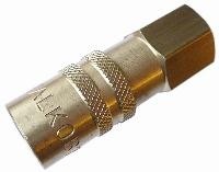 Non-Valved Straight Socket   Mould Couplings 200 Series -  BSPP Female & Hosetail