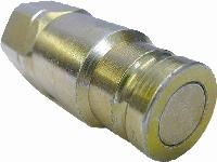 ISO 16028 Plug - Steel   Hydraulic Quick Release Coupling -  BSPP Female Thread