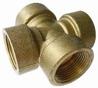 Four Way Connector   Brass Compression Fittings - Interchange Norgren/Enots  Metric