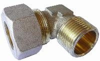 Stud Elbow - Male BSPT   Brass Compression Fittings - AIGNEP  BSPT Male Thread
