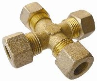 Equal Cross - Tube   Brass Compression Fittings - AIGNEP