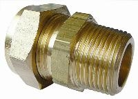 Male Stud Coupling   Brass Compression Fittings - WADE Imperial  BSPT Male Thread