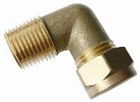 Male Stud Elbow   Brass Compression Fittings - WADE Imperial  BSPT Male Thread