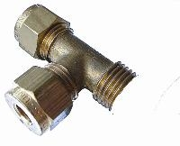 Male Run Tee   Brass Compression Fittings - WADE Imperial  BSPT Male Thread