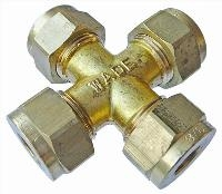 Equal Ended Cross   Brass Compression Fittings - WADE Imperial