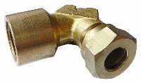 Female Stud Elbow   Brass Compression Fittings - WADE Metric  BSPP Female Thread