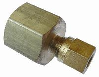 Female Pressure Gauge   Brass Compression Fittings - WADE Metric  BSPP Female Thread