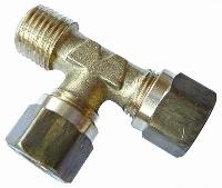 Male Run Tee   Brass Compression Fittings - WADE Metric  BSPT Male Thread