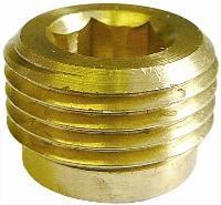 Allen Key Plug   Brass Fittings  Male BSPP