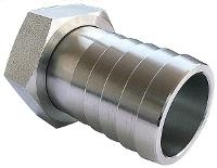 Hose Connector   316 Stainless Steel  Female Swivel BSPP Nut - 60Cone Seat