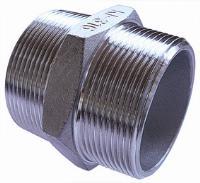 Reducing Hex Nipple   316 Stainless Steel  BSPT Male Thread