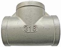 Equal Tee   316 Stainless Steel  BSPP Female Thread