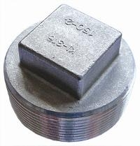 Square Headed Plug   316 Stainless Steel  BSPT Male Thread