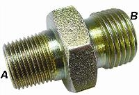 Un-Equal Step Down Connector   Hydraulic Adaptors  Carbon Steel - Zinc Silver Finish