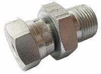 Un-Equal Swivel Connector   Hydraulic Adaptors  Carbon Steel - Zinc Silver Finish