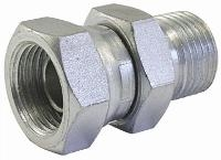 Equal Swivel Connector   Hydraulic Adaptors  Carbon Steel - Zinc Silver Finish