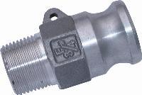 Male Plug   Cam & Groove  Aluminium