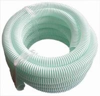 """Superflex Water Delivery Hose - Light Suction 10 & 30m Coils In Translucent Green   Clear PVC Reinforced With Blue Tensile Steel Wire Spiral  """"Suitable For The Suction And Discharge Of Water, Slurry,"""""""