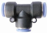 Equal Tee    Push In Fittings  0 - 10 Bar Max - 0 to 60C - Air / Water / Vacuum