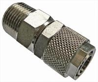 Swivel Stud   Brass Nickel Plated Finish  The Working pressure and temperatures