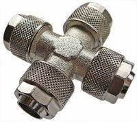 Equal Cross   Brass Nickel Plated Finish  The Working pressure and temperatures