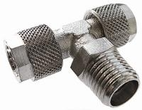 Swivel Stud Tee   Brass Nickel Plated Finish  The Working pressure and temperatures