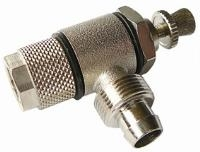 Quick Fit Flow Regulator - Manual   Brass Nickel Plated Finish  The Working pressure and temperatures