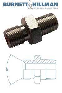 Male x Male BSPP x BSPT   Burnett & Hillman  Hydraulic Adaptor