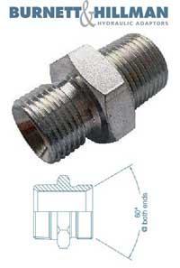 Male x Male NPTF x BSPP   Burnett & Hillman  Hydraulic Adaptor