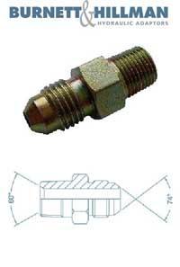 Male x Male NPTF x JIC   Burnett & Hillman  Hydraulic Adaptor