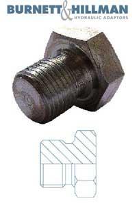 Plug BSPP Solid   Burnett & Hillman  Hydraulic Adaptor