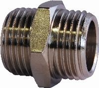 Equal Connector  - BSPP Male Thread   Equal Connector - Nickel Plated