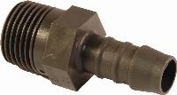 Straight Taper Thread Connector   GES  - Straight taper thread connector  - Polyamide 6 (PA6)