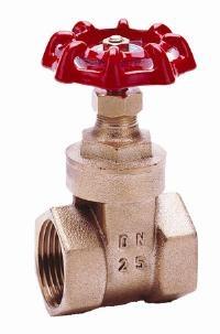 Brass Gate Valve   TO BS 5154 - PN20 SCREWED BSPT FEMALE - CAST HANDWHEEL - TEMP RANGE -20°C TO + 120°C