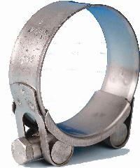 Jubilee® Stainless Steel Super Clamp   Used for demanding applications - the Jubilee Superclamp is easily adjusted by a single nut and bolt.