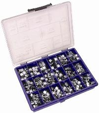 JCS® Zinc Plated Mini Clips Assorted Pack   157 Assorted - Zinc Plated Mini Clips  Ideal for fuel pipes and small hoses