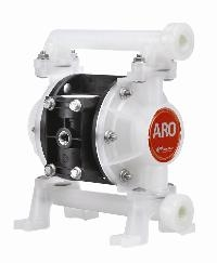 "Ingersoll-Rand® ARO 3/8"" Polypropylene Air Operated Diaphragm Pump   3/8"" Models, Polypropylene Construction, Max Operating Pressure 6.9 Bar, Max Flow Rate 40 Ltrs/Min"